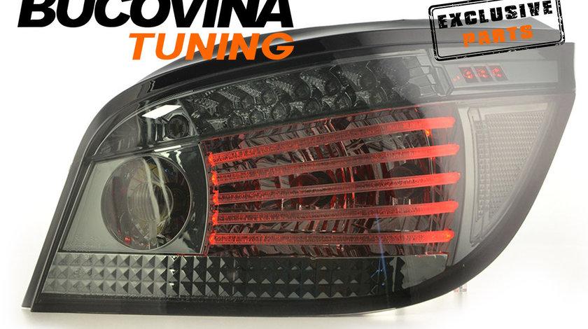 STOPURI BMW E60 SERIA 5 (03-07) CU FIBRA OPTICA SI SEMNALIZARE PE LED