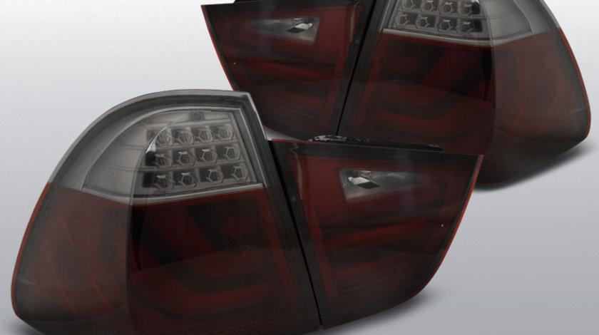 Stopuri BMW E91 05-08 rosu-fumuriu cu LED BAR