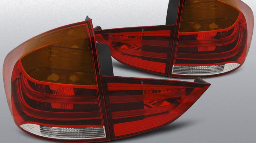 Stopuri BMW X1 E84 10.2009-07.2012 rosu-alb LED