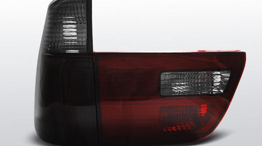 Stopuri BMW X5 E53 1999-2006 Rosu Fumuriu pe LED