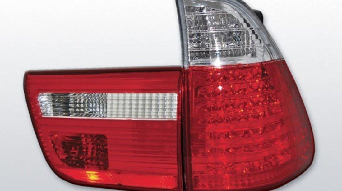 STOPURI BMW X5 E53, Rosu Alb