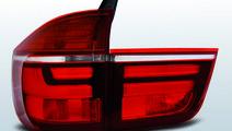Stopuri BMW X5 E70 2007-2010 Rosu Alb pe LED