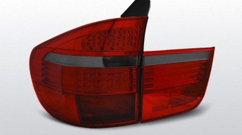 STOPURI BMW X5 E70 AN2007-2010 ROSU FUMURIU LED