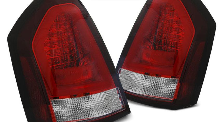 Stopuri Chrysler 300C 2005-2008 Rosu Alb pe LED BAR