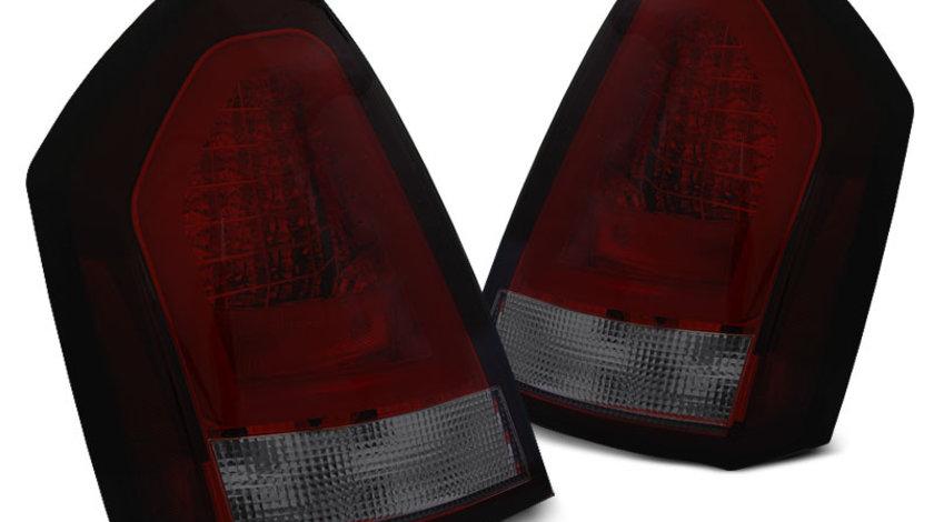 Stopuri Chrysler 300C 2005-2008 Rosu Fumuriu pe LED BAR