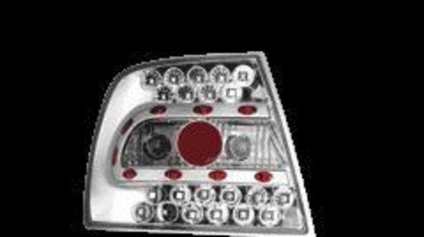 STOPURI CU LED AUDI A4 B5 FUNDAL CROM -COD RA02LLC