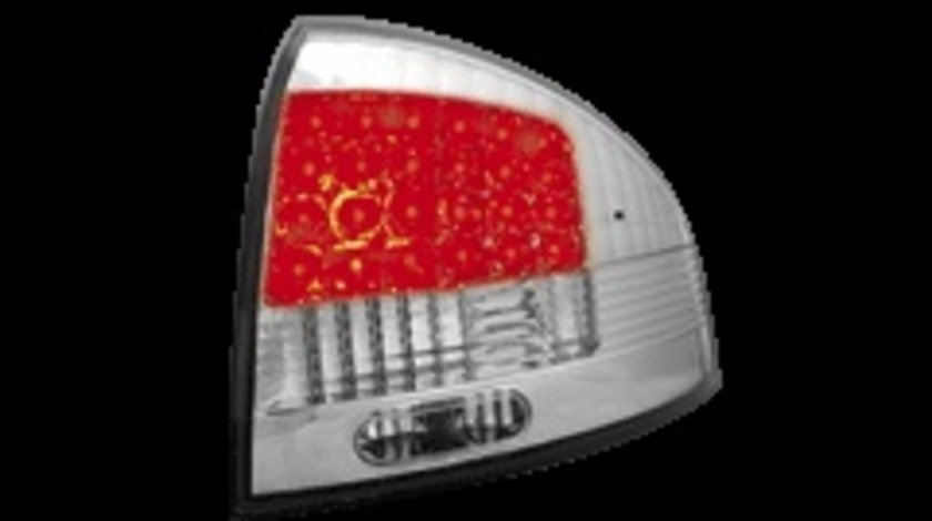 STOPURI CU LED AUDI A6 FUNDAL CROM -COD RA03ALC