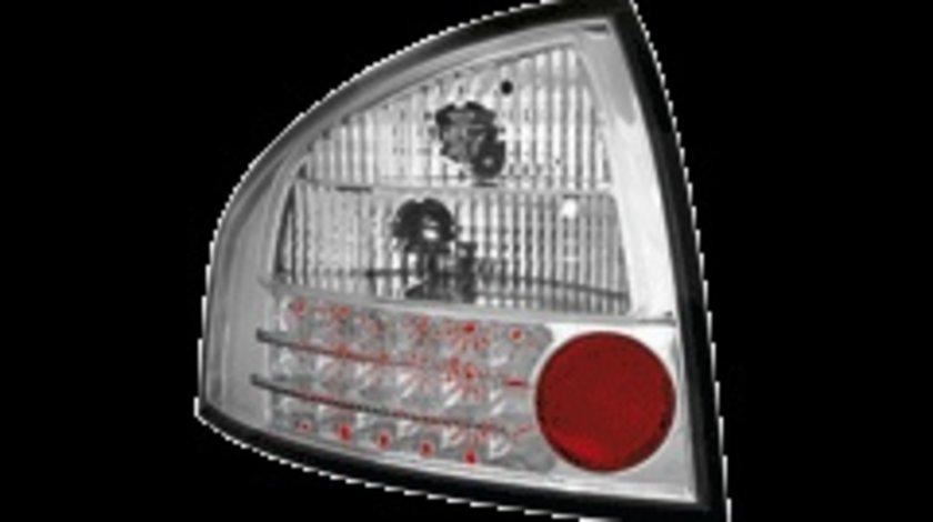 STOPURI CU LED AUDI A6 FUNDAL CROM -COD RA03LC