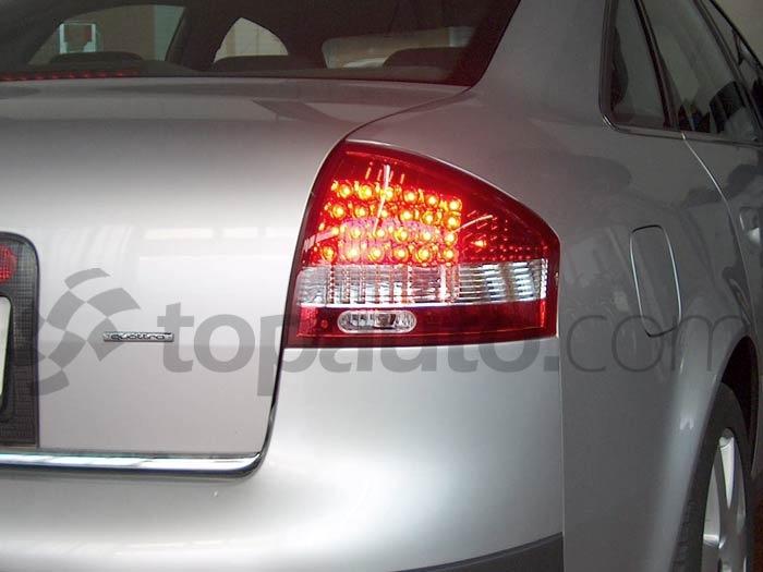 STOPURI CU LED AUDI A6 FUNDAL RED/CRISTAL -COD AU110012