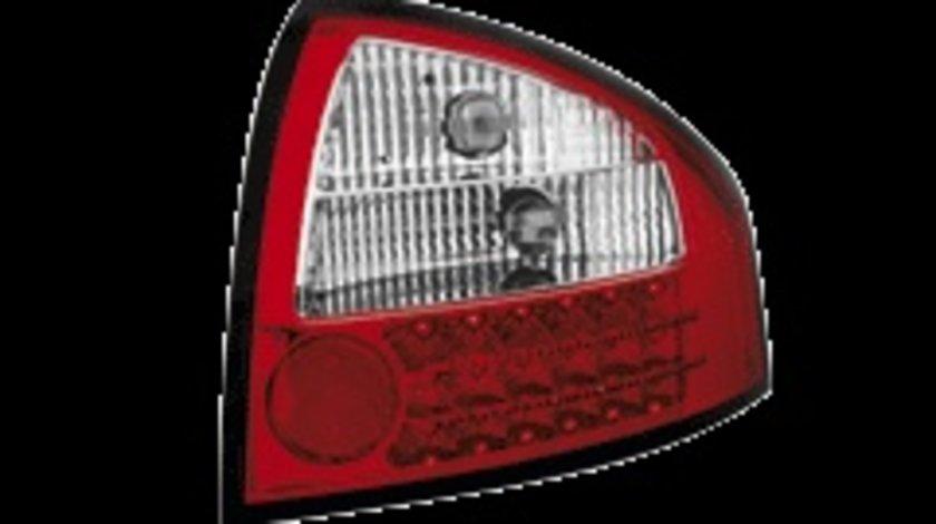 STOPURI CU LED AUDI A6 FUNDAL ROSU-CRISTAL -COD RA03ALRC