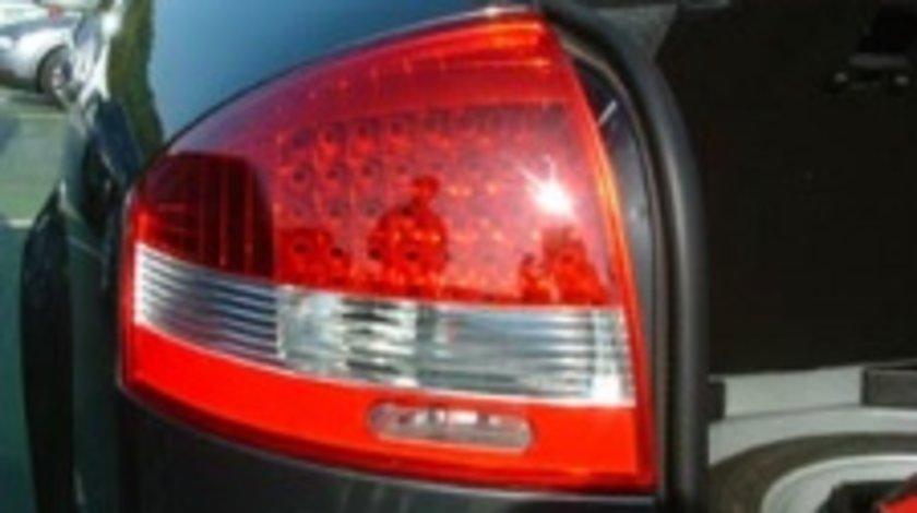 STOPURI CU LED AUDI A6 FUNDAL ROSU CRISTAL -COD RA03LRC