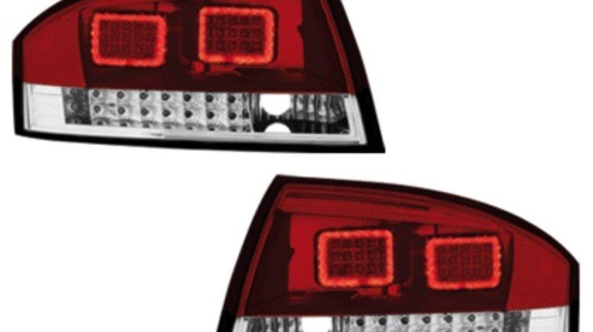 STOPURI CU LED AUDI TT FUNDAL RED CRISTAL -COD RA06KLRC