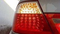 STOPURI CU LED BMW E46 COUPE FUNDAL RED/CRISTAL -C...