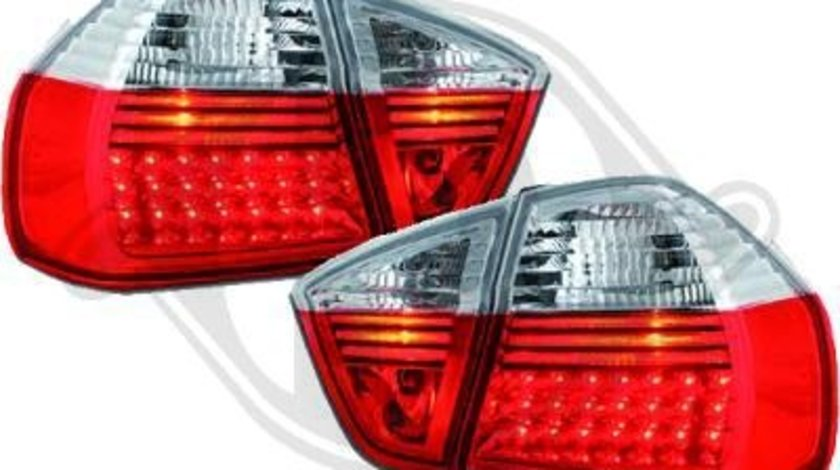 STOPURI CU LED BMW E90 FUNDAL RED/CRISTAL -COD 1216992
