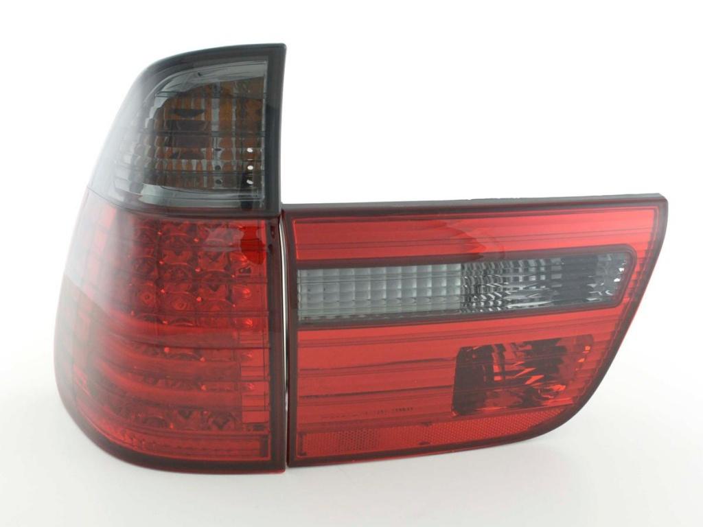 STOPURI CU LED BMW X5 FUNDAL RED/BLACK -COD FKRLXLBM010015