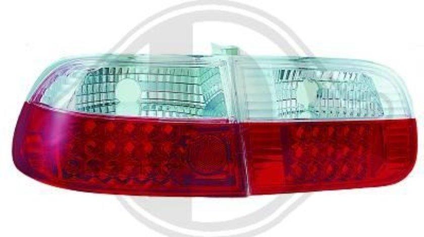 STOPURI CU LED HONDA CIVIC FUNDAL RED/CRISTAL -COD 5205996