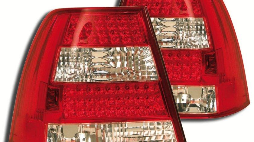 STOPURI CU LED VW BORA FUNDAL RED/CROM -COD FKRLXLVW501