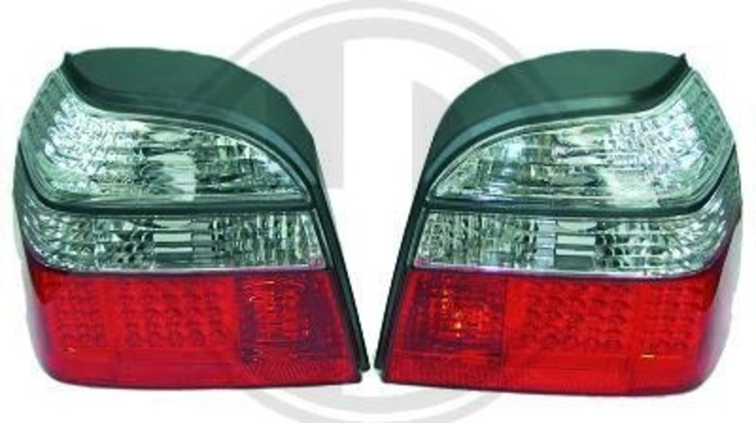 STOPURI CU LED VW GOLF III FUNDAL RED/CRISTAL -COD 2212996