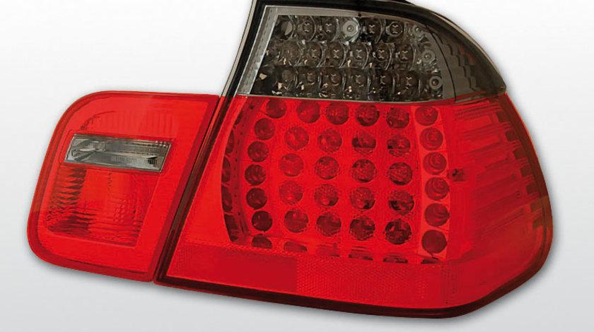 Stopuri E46 98-2001 , Sedan, culoare rosu fumuriu, pe led