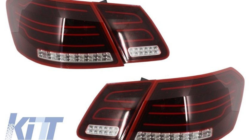 Stopuri Facelift LED Mercedes Benz E-Class W212 2013+ Rosu/Clar