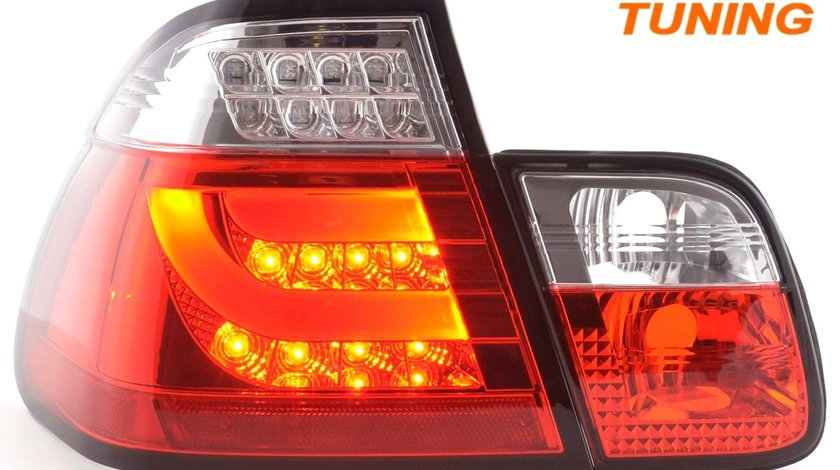 STOPURI FIBRA OPTICA BMW E46 (02-05) LIMOUSINE - FUNDAL ROSU CRISTAL
