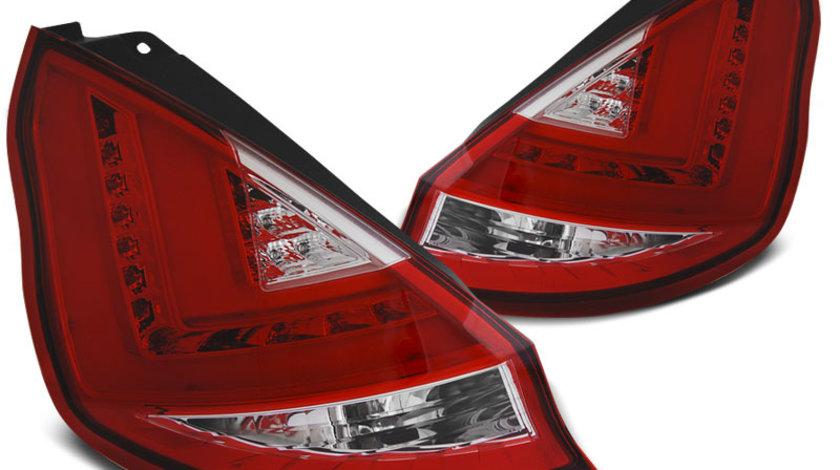 Stopuri Ford Fiesta MK7 2008-2012 Hatchback Rosu Alb LED BAR