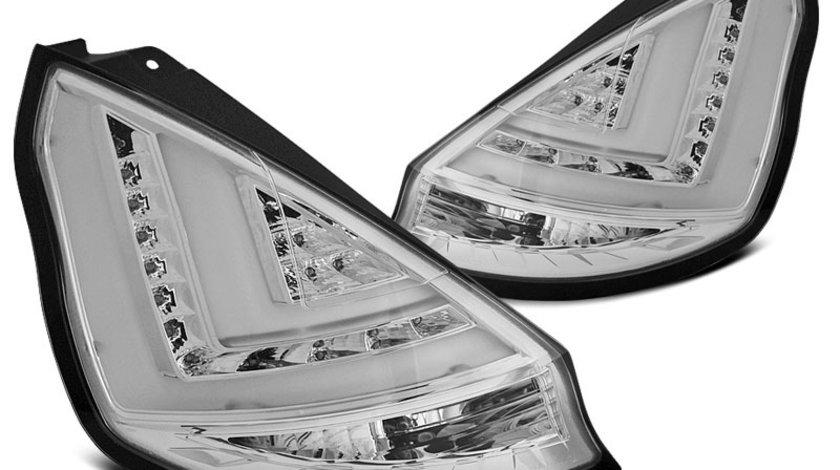 Stopuri Ford Fiesta MK7 2012-2015 Hatchback Cromat cu LED BAR