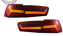 Stopuri Full LED Audi A6 4G C7 (11-14) Red/Clear F...