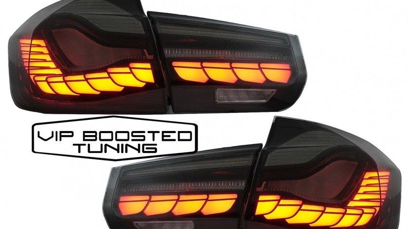 Stopuri full LED BMW F30 (2011-2019) Rosu Fumuriu GTS Design Semnal Dinamic Secvential