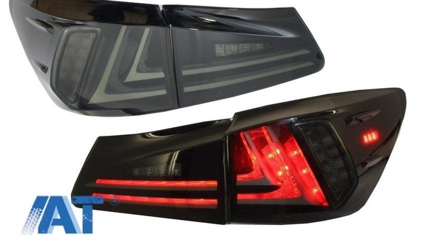 Stopuri Full LED compatibil cu LEXUS IS XE20 (2006-2012) Light Bar Facelift New XE30 Design Fumuriu