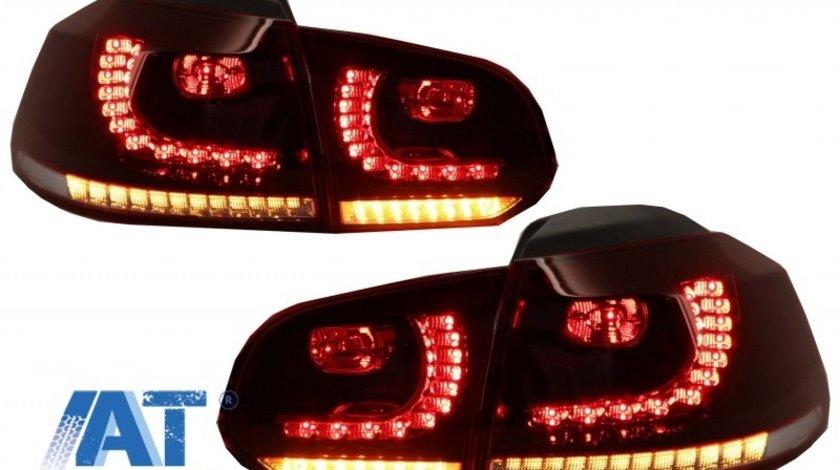 Stopuri FULL LED compatibil cu VW Golf 6 VI (2008-2013) R20 Design Semnal Secvential Dinamic