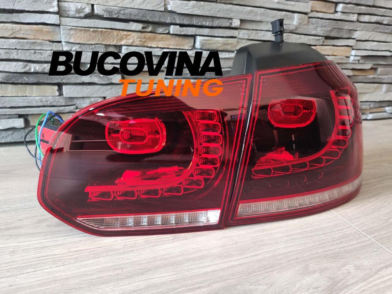 STOPURI FULL LED CU SEMNALIZARE SECVENTIALA DINAMICA VW GOLF 6 (2008-2012)