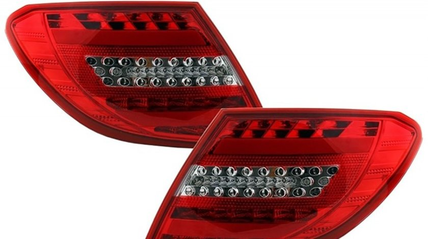 Stopuri Full LED Mercedes Benz C-Class W204 (2007-2011) Facelift Design