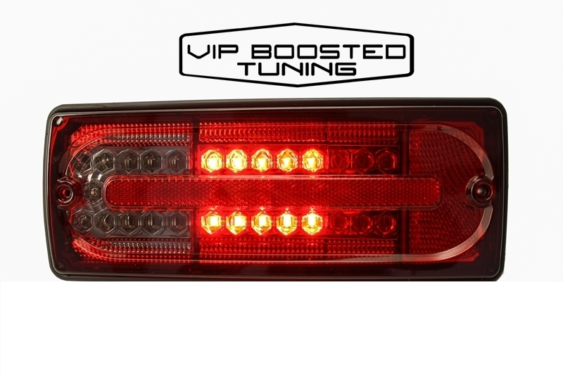 Stopuri Full LED Mercedes Benz W463 G-Class (1989-2015) Rosu/Fumuriu