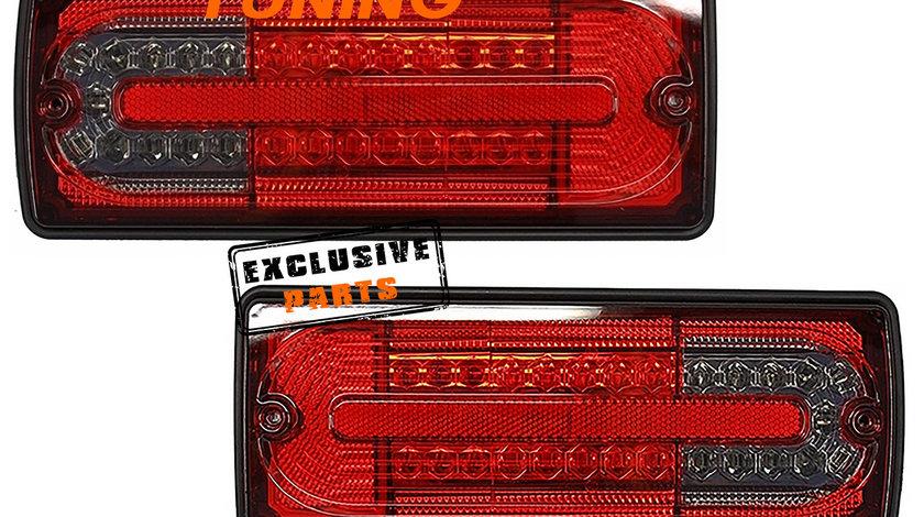 Stopuri Full LED Mercedes Benz W463 G-Class (89-15) Rosu Fumuriu