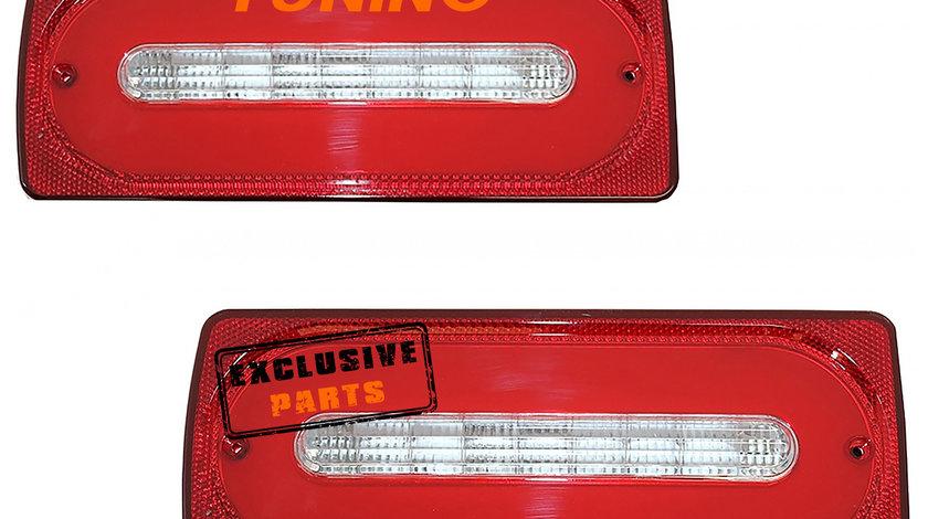 Stopuri Full LED Mercedes Benz W463 G-Class (89-15) Rosu Semnalizare Dinamica