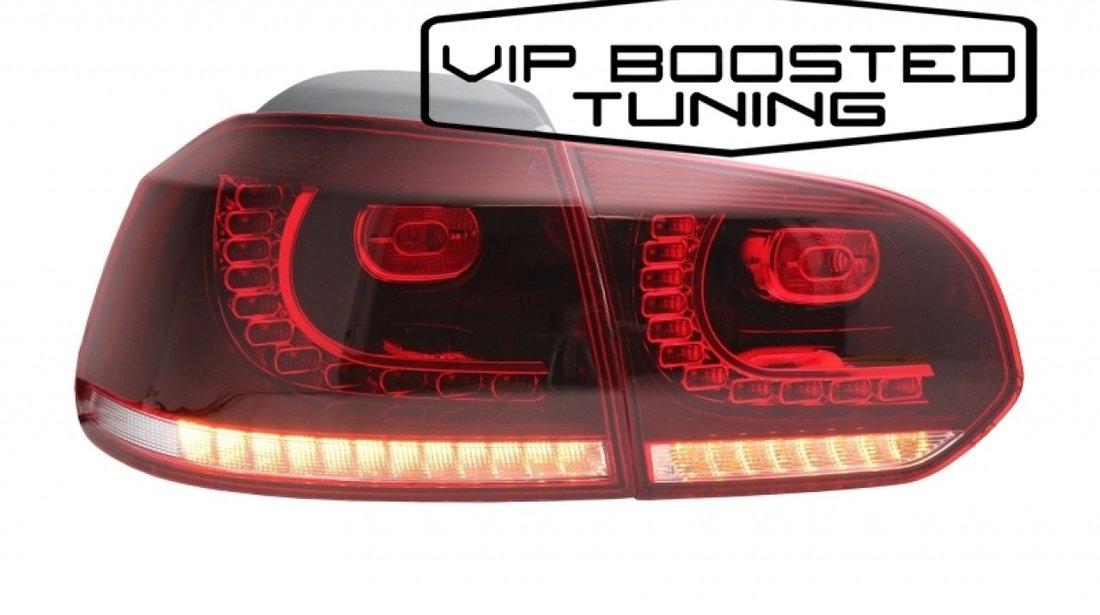 Stopuri FULL LED Volkswagen Golf 6 VI (2008-up) R20 Design semnalizare dinamica