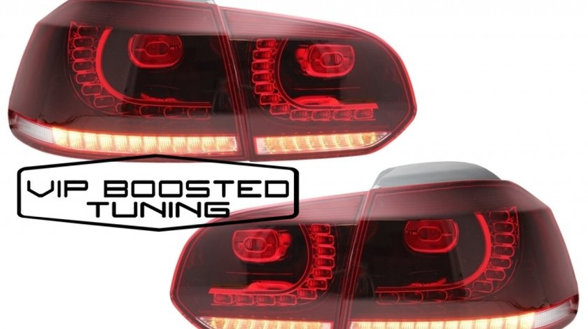 Stopuri FULL LED Volkswagen Golf 6 VI (2008-up) R20 Design semnalizare dinamica