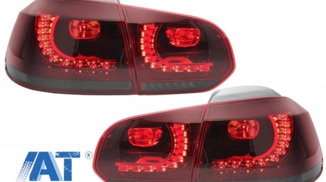 Stopuri Full LED Volkswagen Golf VI (2008-2013) R20 Design Rosu Fumuriu