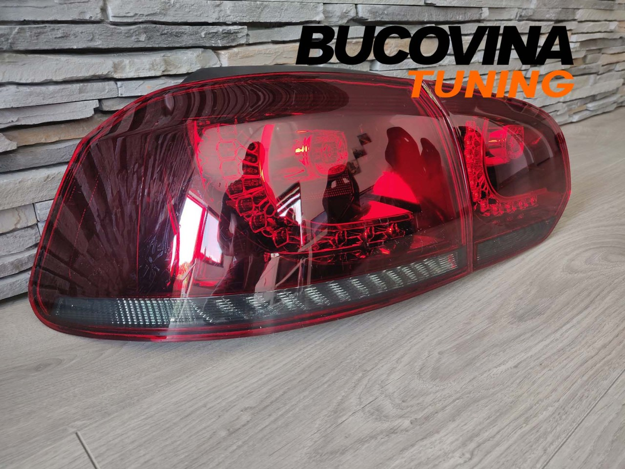 Stopuri full LED VW Golf 6 (08-12) Rosu Fumuriu GTI R Design