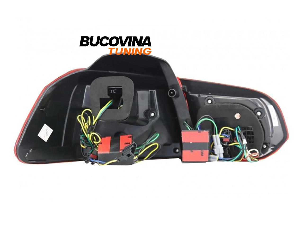 Stopuri full LED VW Golf 6 (08-12) Rosu Fumuriu