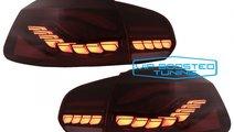 Stopuri Full LED VW Golf 6 VI (2008-2013) Rosu Fum...