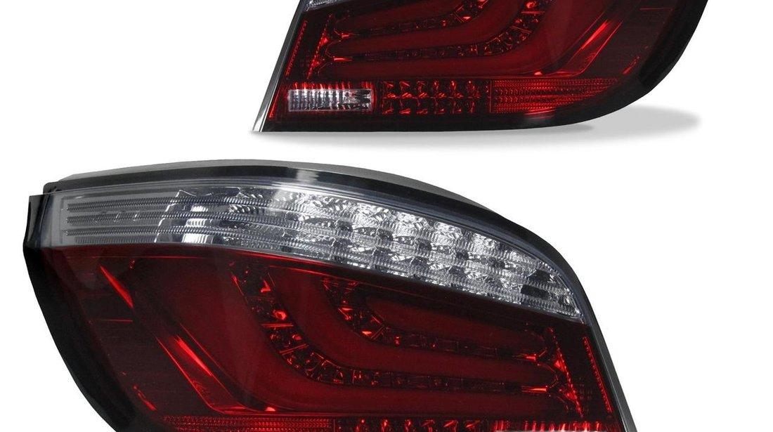 Stopuri fumurii cu LED lightbar pentru BMW E60 Limo 2003-2007