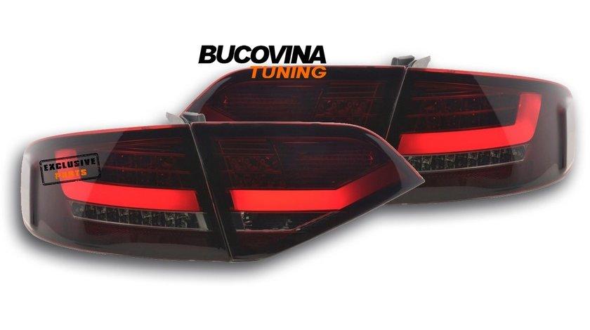 STOPURI LED AUDI A4 B8 8K (08-11) - ROSU FUMURIU