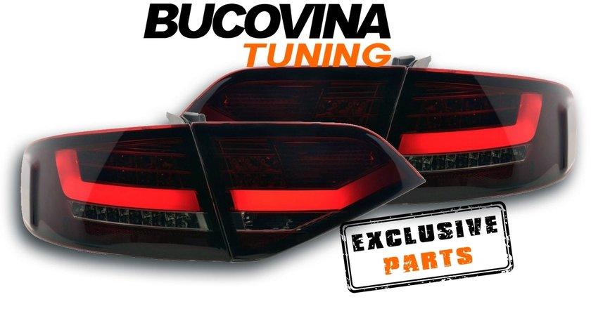 STOPURI LED AUDI A4 B8 8K LIMOUSINE (08-11) - ROSU CRISTAL