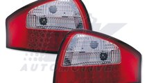 STOPURI LED AUDI A6 4B FUNDAL RED/CRISTAL -COD FKR...