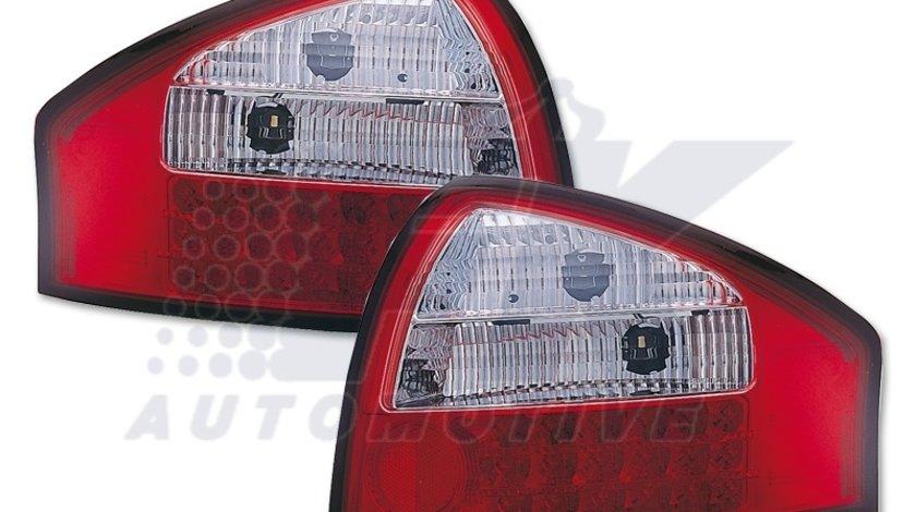 STOPURI LED AUDI A6 4B FUNDAL RED/CRISTAL -COD FKRLXLAI8003