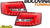 STOPURI LED AUDI A6 4F ROSU CRISTAL - 309 EURO