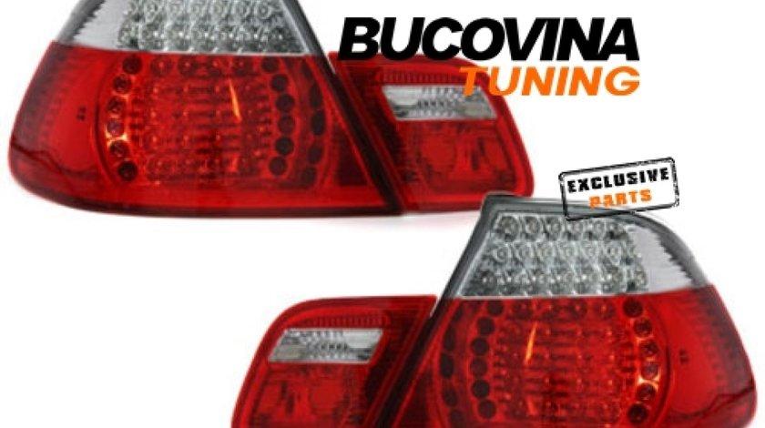 STOPURI LED BMW 3er E46 CABRIO 00-05– FUNDAL ROSU CRISTAL