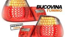 STOPURI LED BMW 3er E46 COUPE 98-03– FUNDAL ROSU...